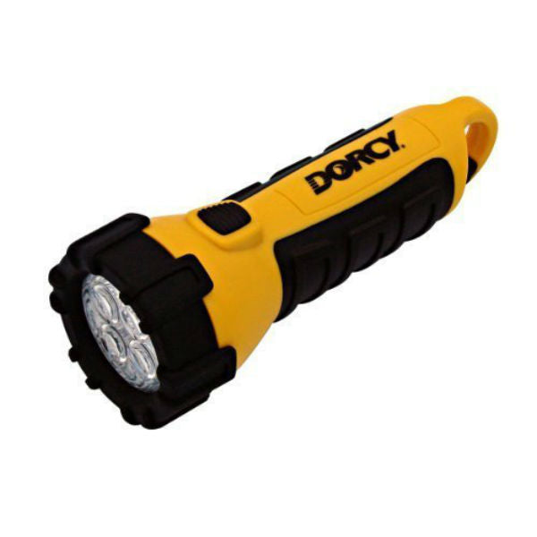 Dorcy® 41-2510 Floating Waterproof 4-LED Flashlight with Carabineer & Batteries