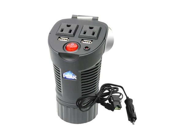 Peak Auto PKC0BM Power Cup Inverter, 150-Watt