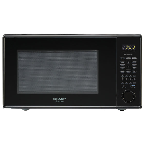 Sharp® R-309YK Carousel® Microwave Oven, 1.1 Cuft Capacity, 1000W, Black