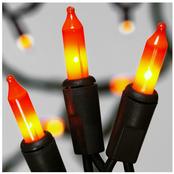 Sylvania V34700-88 Halloween Orange Mini 100-Lights Set with Black Wire, 26.5'