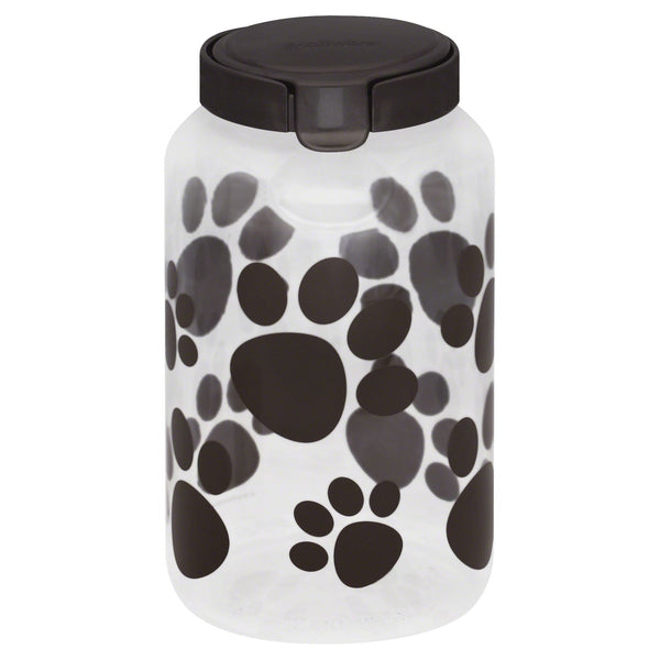 Snapware® 1098568 Paw Print Airtight Food Storage Pet Treat Canister, 17.2 Cup