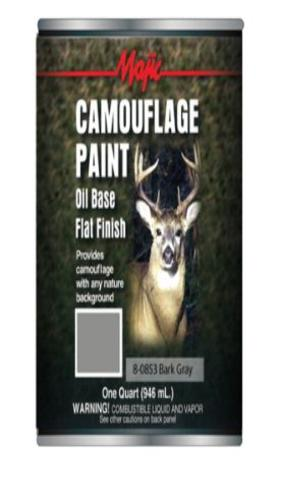 Majic 8-0853-2 Camouflage Paint, 1 Quart, Bark Gray