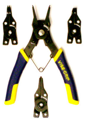 Irwin Tools 2078900 Vise-Grip® Convertible Snap Ring Plier, 4-Piece