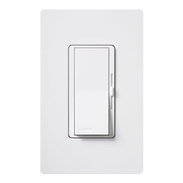 Lutron® DVW-603PGH-WH Paddle On/Off Switch Incandescent Eco Dim Dimmer, 3-Way, 600W