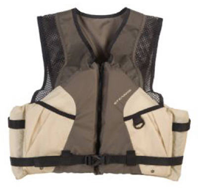 Stearns 2000007023 Type III 2220 Comfort Series Taupe Boat/Fish Vest, 2X Large