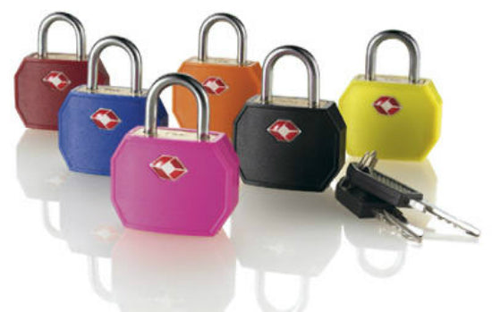 Travel Smart® TSR01TS Travel Sentry® Brass Padlock, Assorted Colors