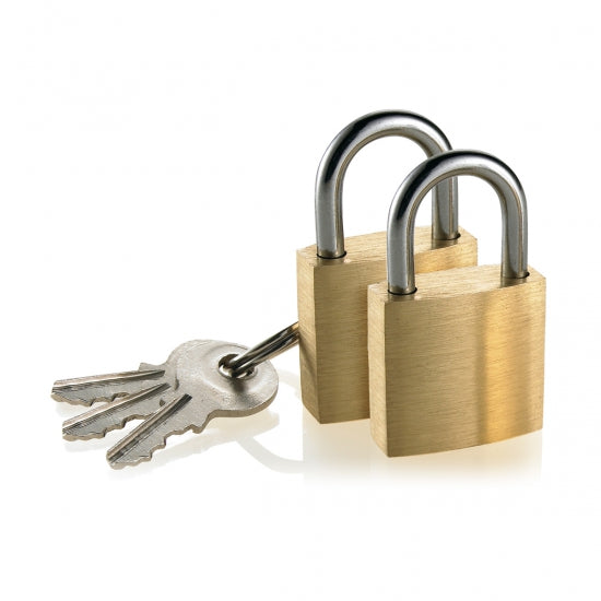 Travel Smart® P4401 Travel Smart® Mini Brass Padlock, 2-Pack