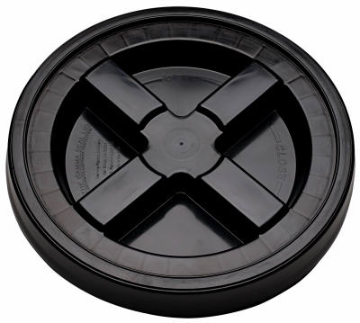 Gamma 5GAMMA6 The Gamma Seal Lid, 3.5 To 5 Gallon, Black