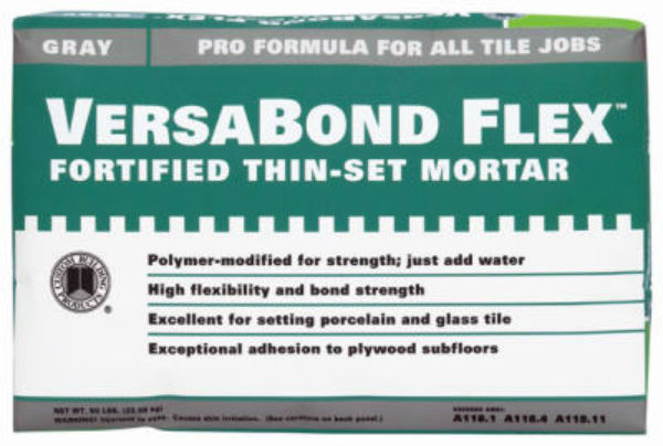 Custom® VBFG25 VersaBond Flex® Fortified Thin-Set Mortar, 25 lb