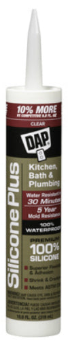 Dap® 08781 Premium Silicone Rubber Kitchen & Bath Sealant, 10.1 Oz, Clear