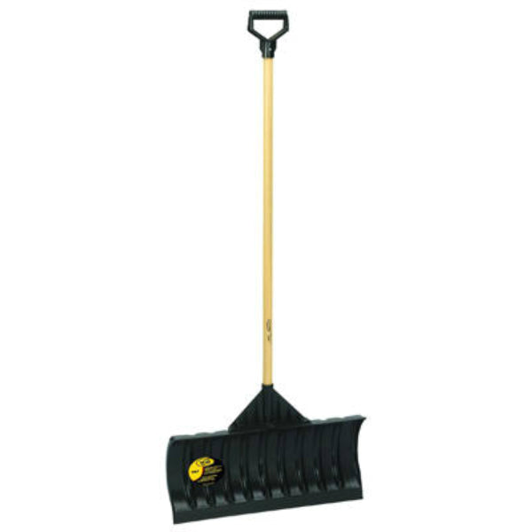 "Yo-Ho® 05902 Heavy Duty Poly Snow Pusher with 48"" Hardwood Handle"