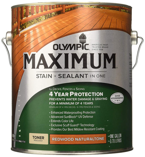Olympic 56404A/01 Redwood Naturaltone Waterproofing Sealant, 1-Gallon