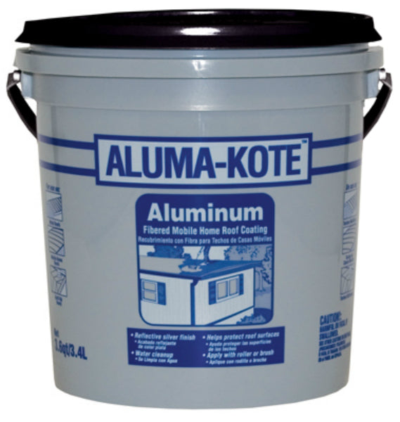 Gardner® 6241-GA Aluma-Kote™ Fibered Aluminum Mobile Home Roof Coating, 3.6 Qt