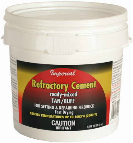Imperial KK0307 Ready-Mixed Refractory Cement, 64 Oz, Tan/Buff