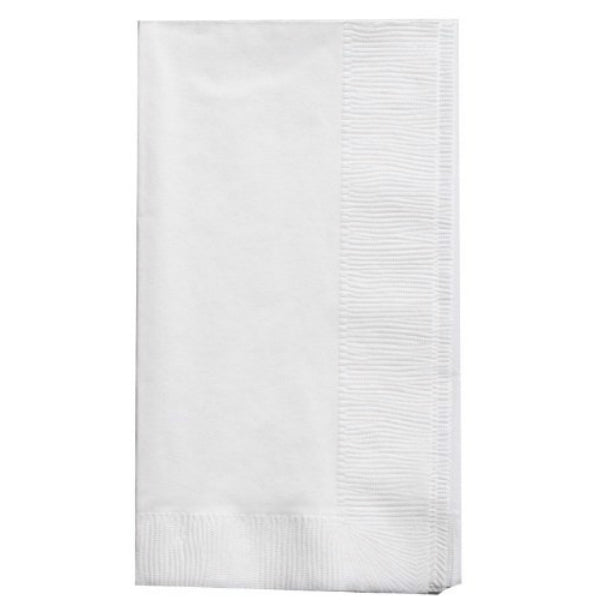 Creative Converting™ 67000B 2-Ply Paper Dinner Napkins, White, 50-Count