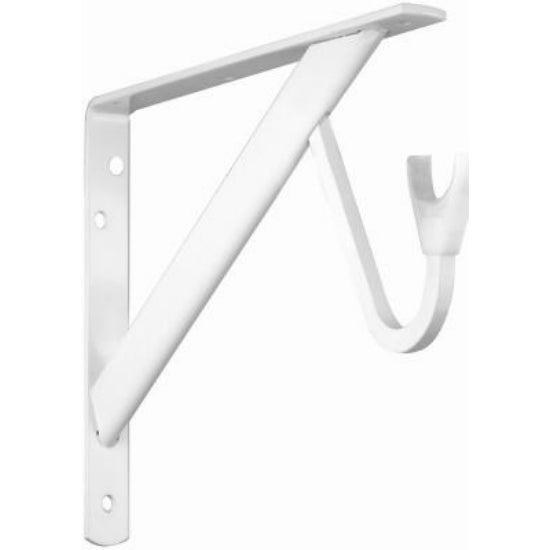 Knape & Vogt® RP-0495-WT Heavy Duty Shelf & Rod Bracket, White