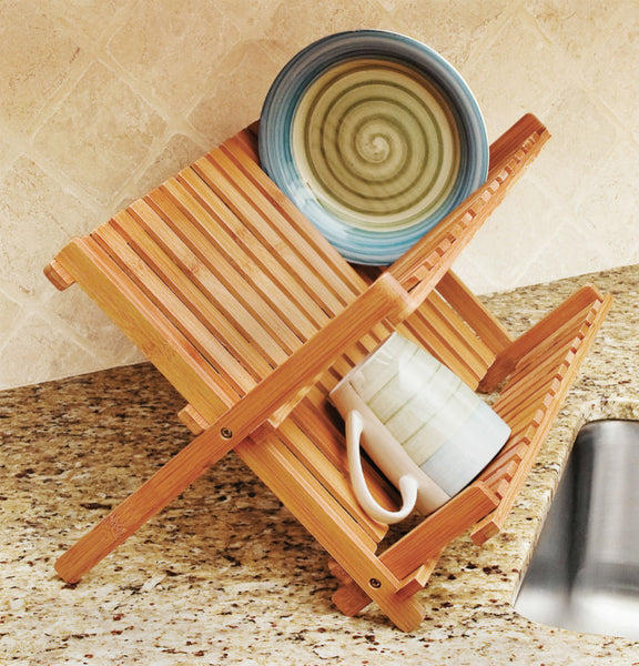 Lipper 8813 Bamboo Folding Dish Rack