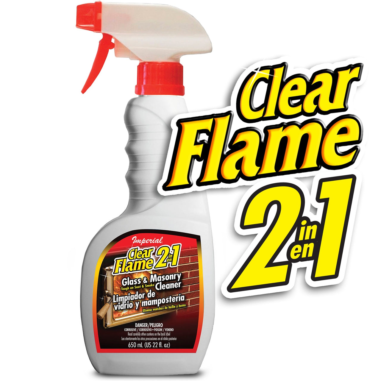 Imperial KK0047 Clear Flame 2-In-1 Glass & Masonry Cleaner, 16 Oz
