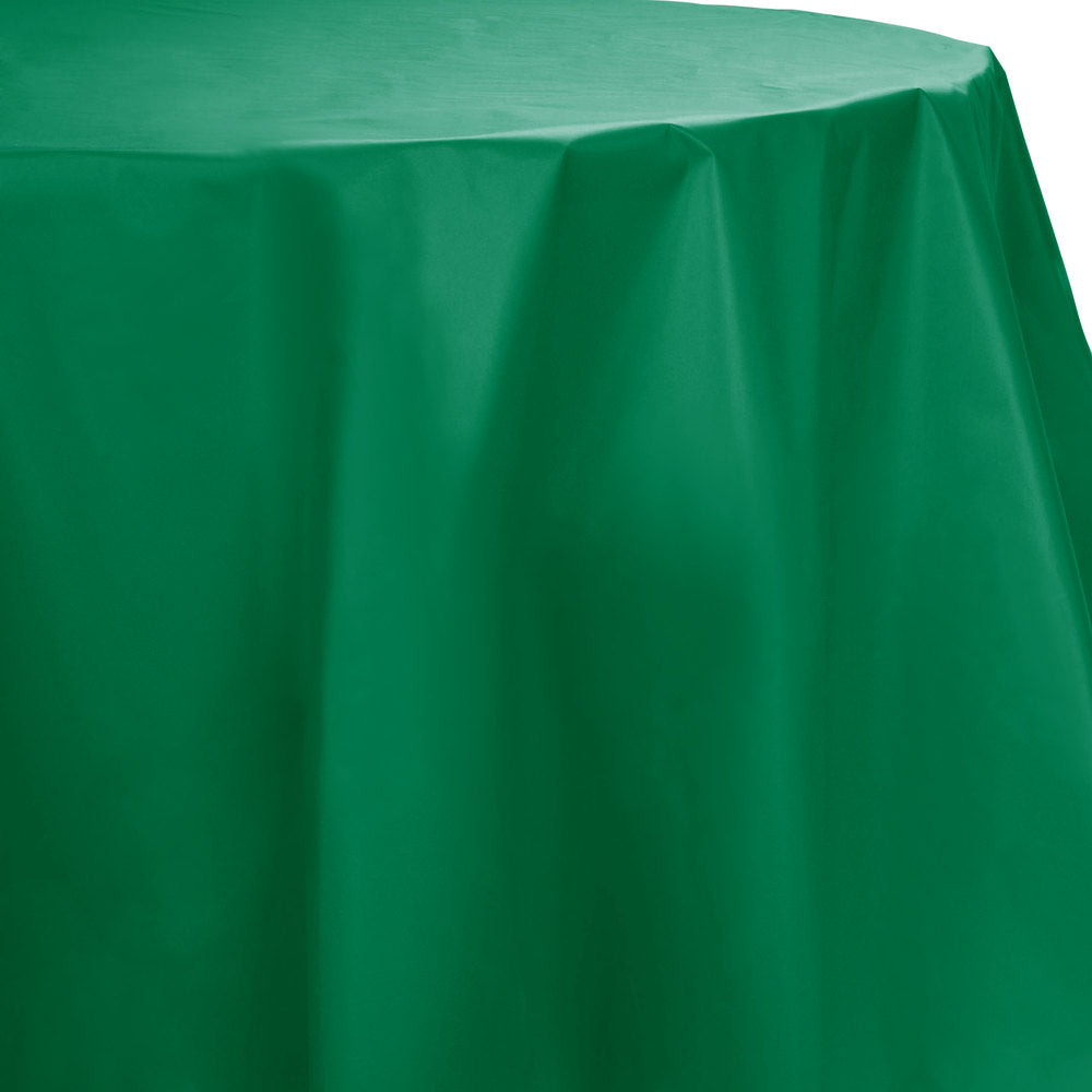 Creative Converting™ 703261 Octy-Round Plastic Table Cover, Emerald Green, 82""