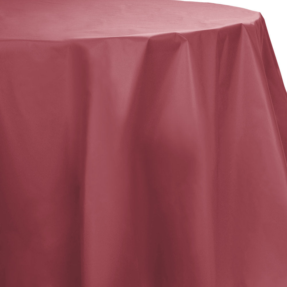 Creative Converting™ 703122 Octy-Round Plastic Table Cover, Burgundy, 82""
