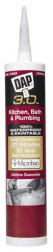 Dap® 00795 Kwik Seal Advanced Kitchen & Bath Adhesive Caulk, 9.0 Oz, Crystal Clear