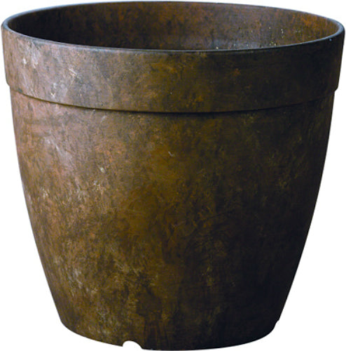 "Novelty 03167 Round Dolce Planter, 16"", Teak"