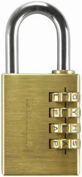 WordLock® PL-056-SL Sport Padlock with 4-Dial, Solid Brass