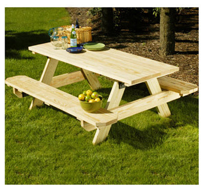Universal Forest Products 106116 Pressure Treated Picnic Table Kit, 6'