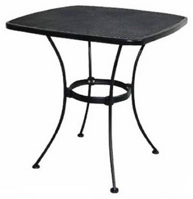 Woodard Uptown Collection Steel Mesh Bistro Table, 28""