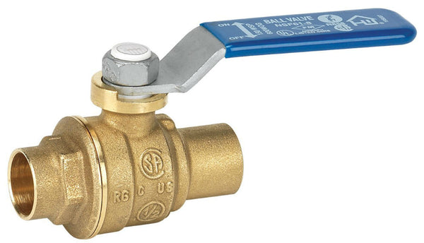 Homewerks® 116-4-12-12 Lead-Free Brass Full Port Ball Valve, Solder End, 1/2""