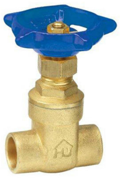 "Homewerks® 170-4-12-12 Lead-Free Brass Compact-Pattern Gate Valve, 1/2"" Solder"