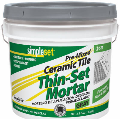 Simpleset Thin Set Mortar 3.5-gallon, gray