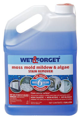 Wet & Forget 800066CA Outdoor Moss, Mold, Mildew & Algae Remover, 1 Gallon