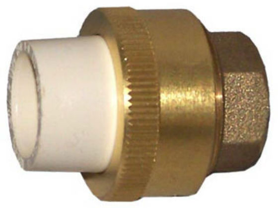 "Genova 53043Z Transition Union, 3/4"" CPVC Slip x Brass Slip"