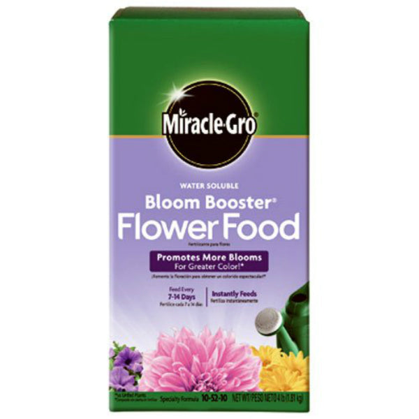 Miracle-Gro 146002 Water Soluble Bloom Booster Flower Food, 4 Lbs