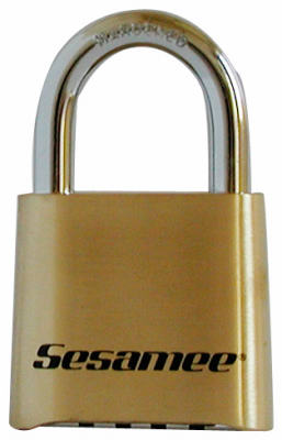"Sesamee K436 4-Dial Combination Lock, 1-7/8"" Wide"