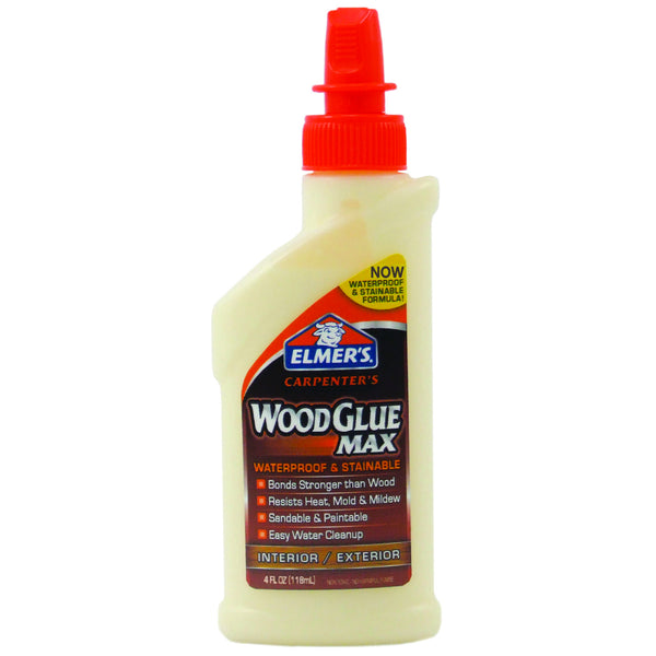 Elmers E7290 Carpenter's® Glue Max® Stainable & Waterproof Wood Glue, 4 Oz