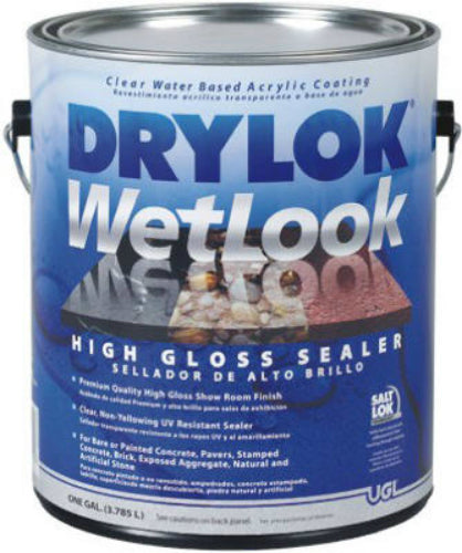 Drylok® 28913 Wetlook High Gloss Sealer, 1 Gallon, Clear