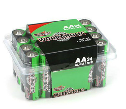 "Interstate Batteries DRY0070 Workaholic ""AA"" Alkaline Battery, 24-Pack"