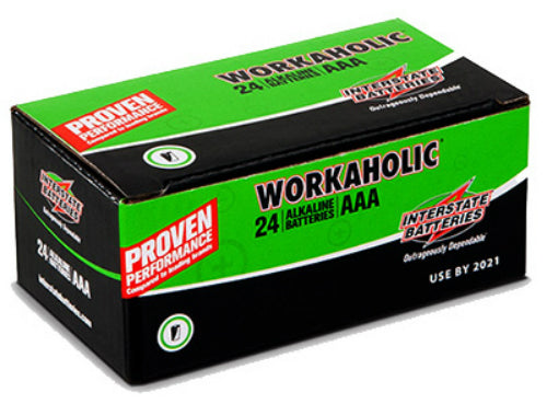 "Interstate Batteries DRY0075 Workaholic ""AAA"" Alkaline Battery, 24-Pack"