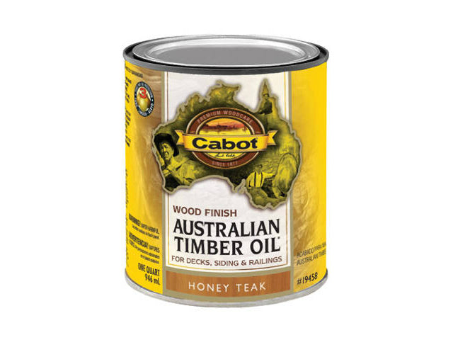 Cabot® 19458-05 Australian Timber Oil, Honey Teak, 1 Quart