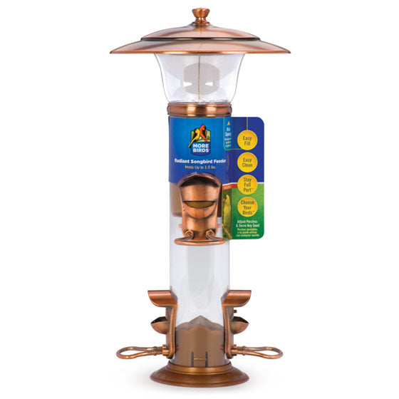 More Birds™ 25 Radiant Songbird Feeder with 4 Feeding Ports, 1.5 Lb Capacity
