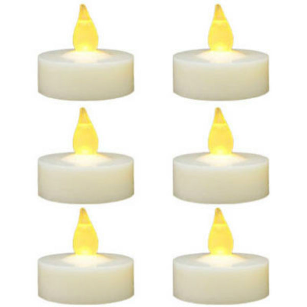 Sylvania V24301 Christmas Battery-Operated LED Tealight Candles, 6-Pack