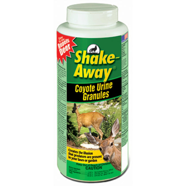 Shake-Away® 2851118 Coyote Urea Granules Deer Repellent, 28.5 Oz