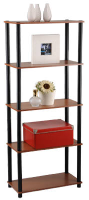 Momentum Furnishings PBF-0285-303 Book Shelf, 5 Tier, Cherry Finish