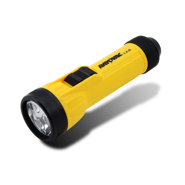 Rayovac WHH2D-BA 3 LED Industrial Flashlight with Batteries, Yellow & Black