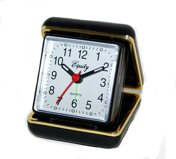 Equity® 20080 Quartz Folding Travel Alarm Clock