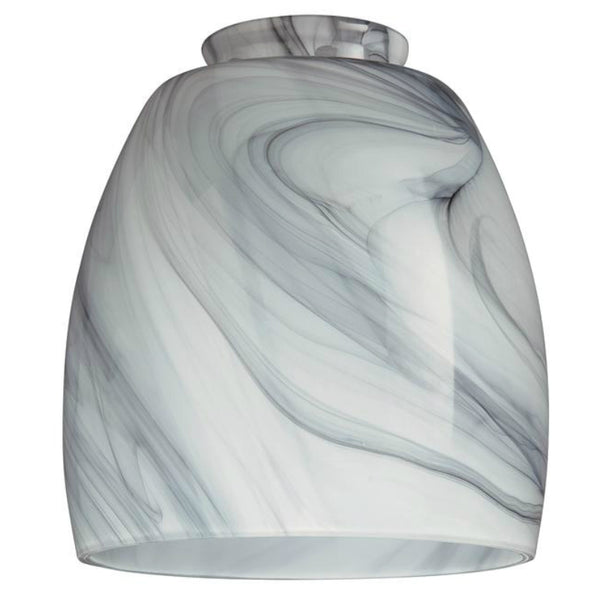"Westinghouse 8140900 Handblown Charcoal Swirl Glass Shade, 2-1/4"" Fitter"