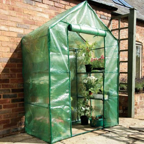 "Gardman 7620  Compact Walk-In Greenhouse with Shelving, 29"" x 56"" x 77"""