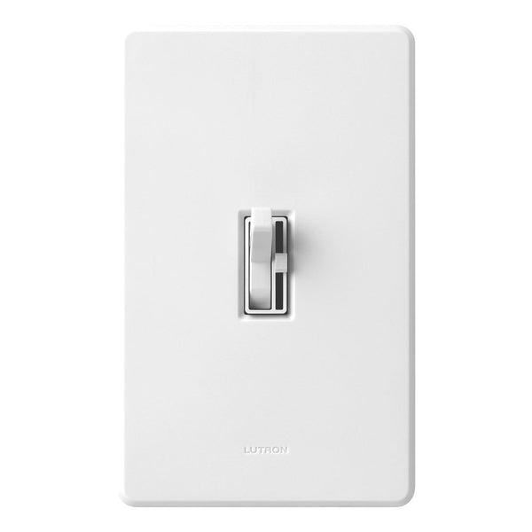 Lutron® TGCL-153PH-WH Toggler CFL/LED Single-Pole/3-Way Toggle Dimmer, White, 150W